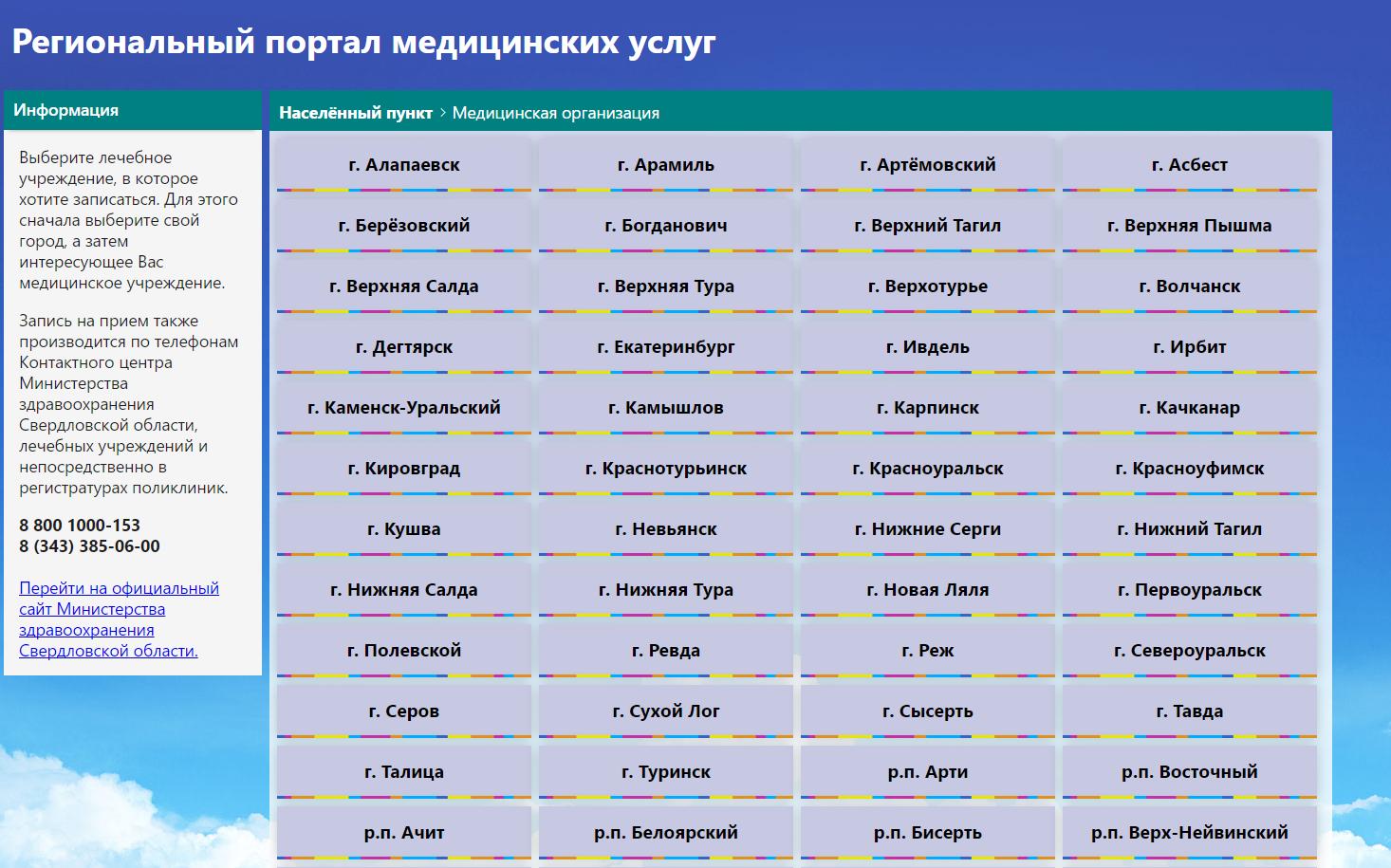 Регистратура 66 свердловской области запись на прием
